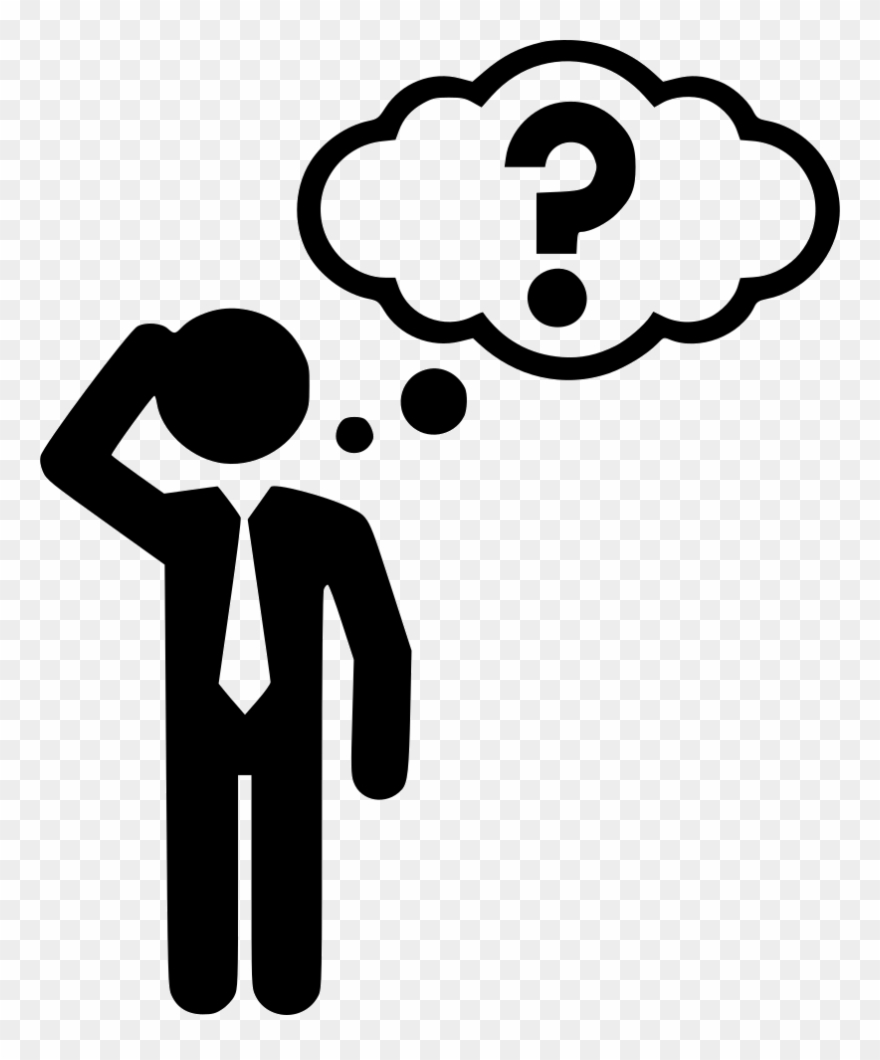 Thinking Thinker Cuestion Answer Svg Png Icon Free.