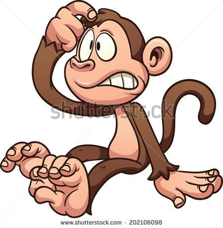 Monkey Thinking Stock Images, Royalty.