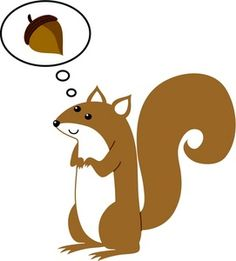 Painted Squirrel Clipart.