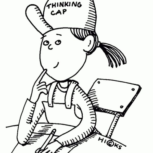 Thinking clipart black and white » Clipart Station.