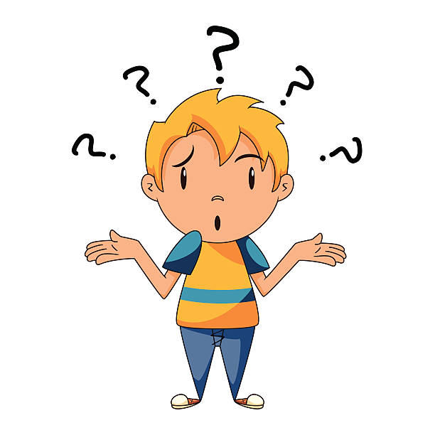 Boy Thinking Clipart.