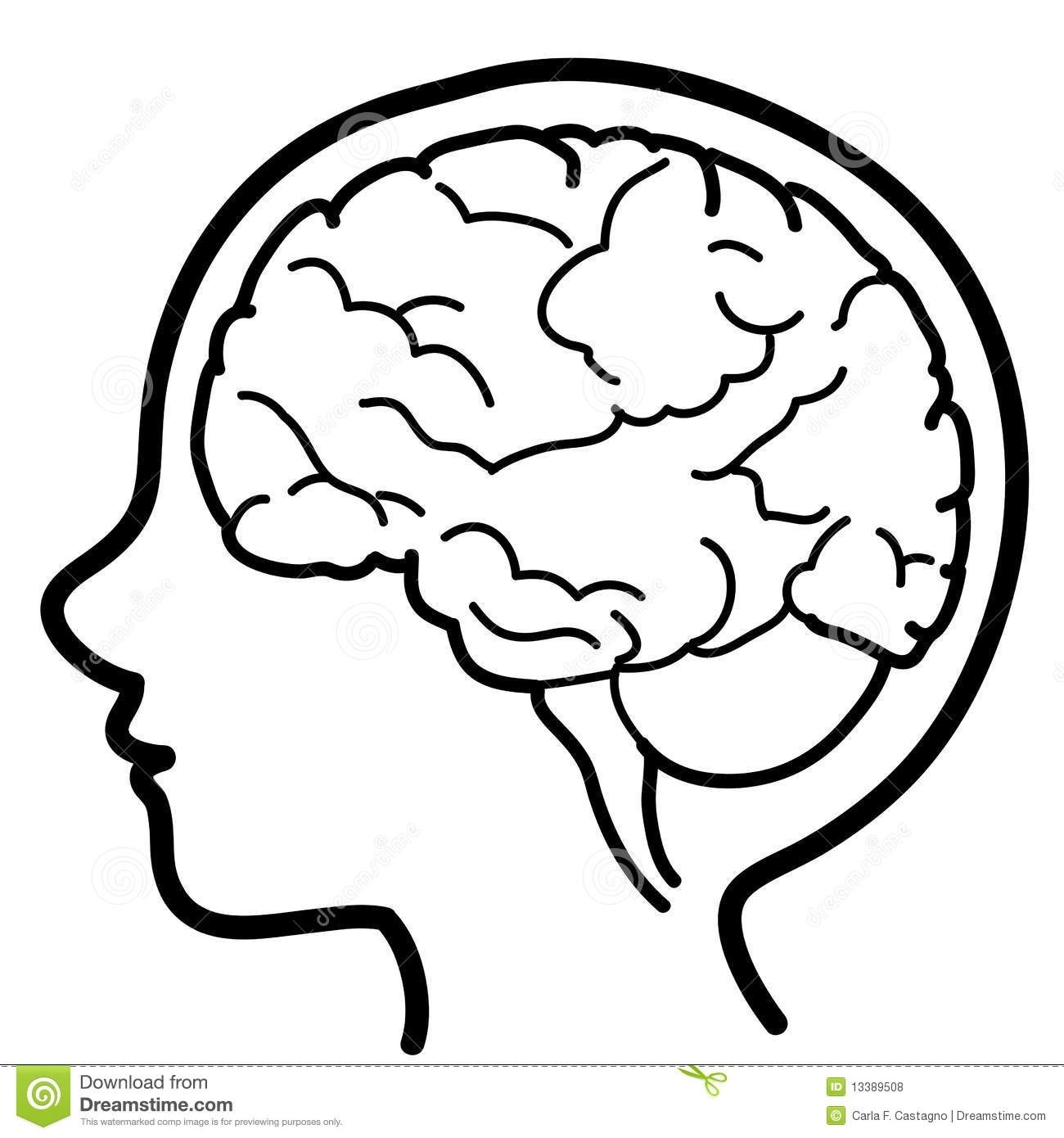 Thinking Brain Clipart Black And White Hd.