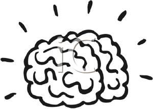 Thinking Brain Clipart Black And White.