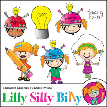 Clipart Thinking Cap Smarty Pantz {Lilly Silly Billy}.