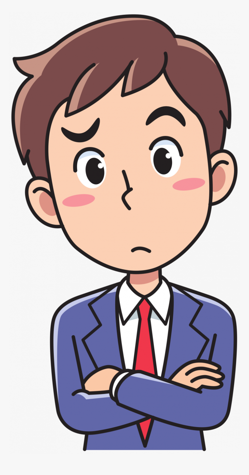 Person Thinking Cartoon Clipart , Png Download.