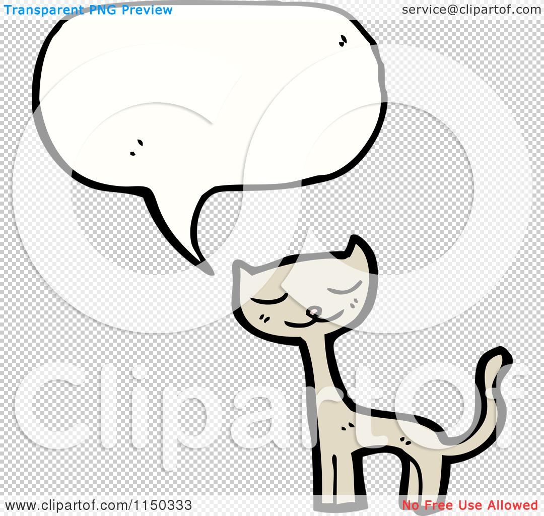 Cartoon of a Thinking Cat.