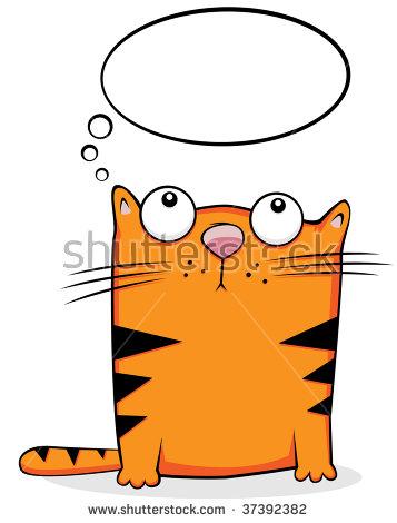 Thinking Cat Stock Photos, Royalty.