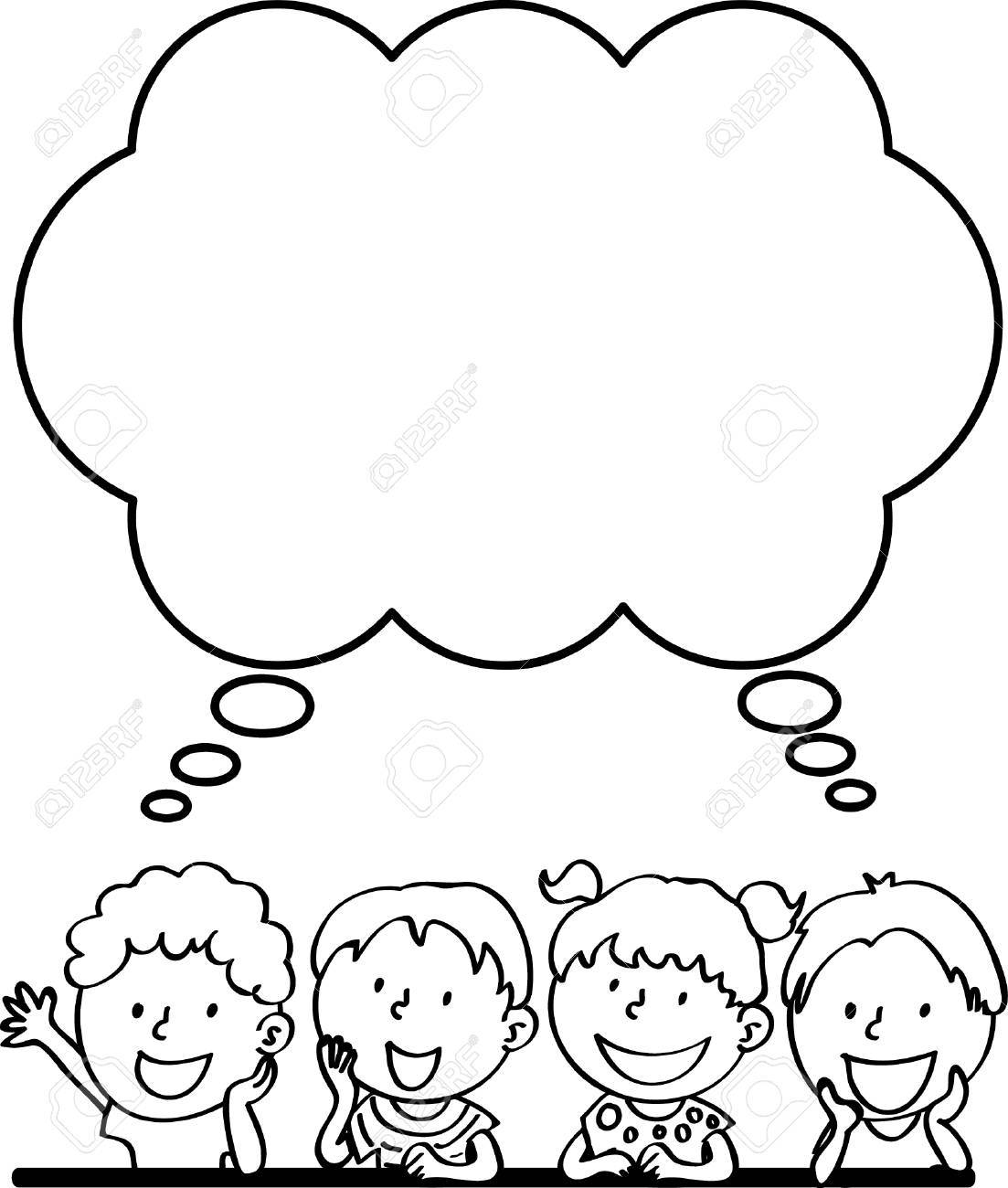 Kid thinking clipart black and white 7 » Clipart Portal.
