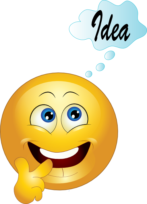 Yellow Thinking Smiley Emoticon Clipart Royalty Free.