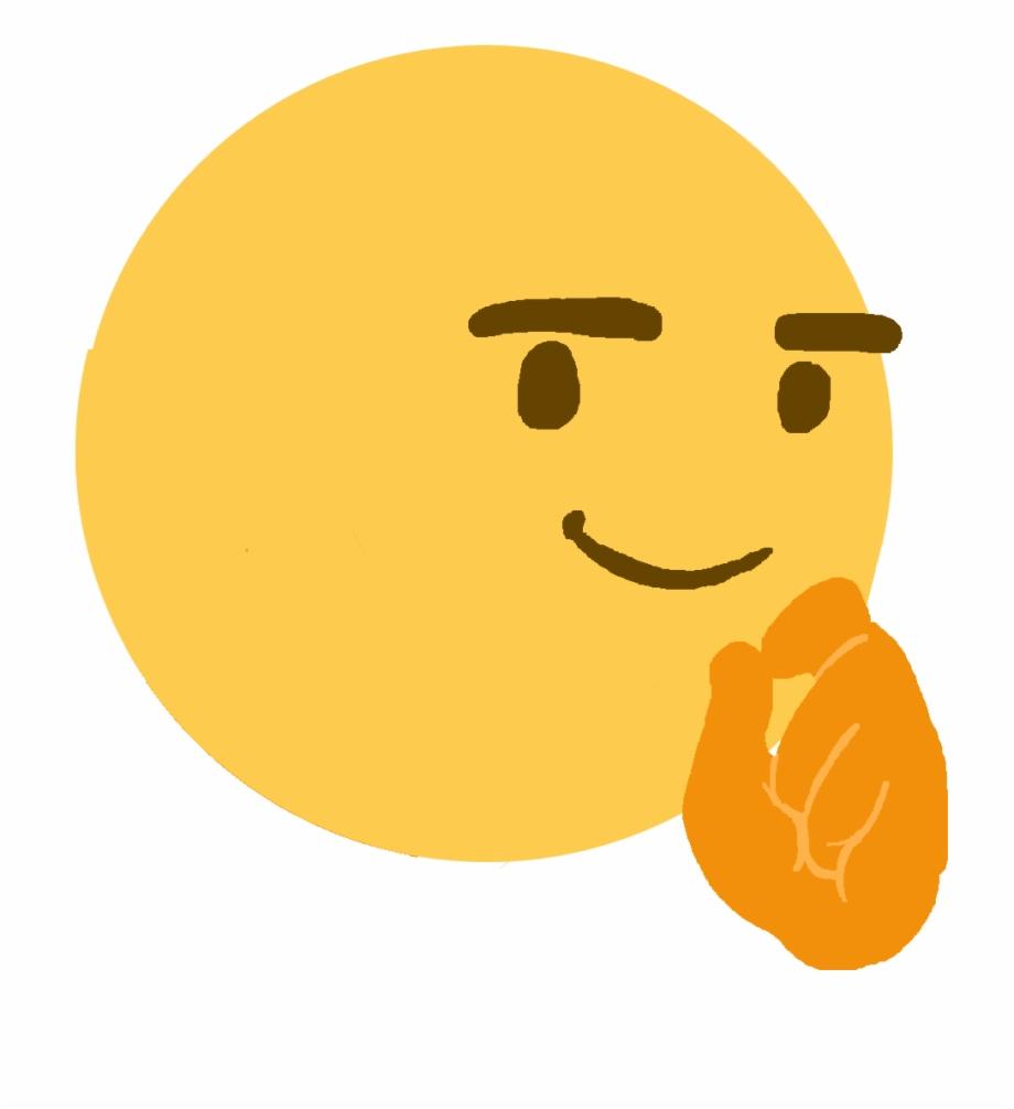 Face Emoji Clip Art Think Face Emoji Meme.