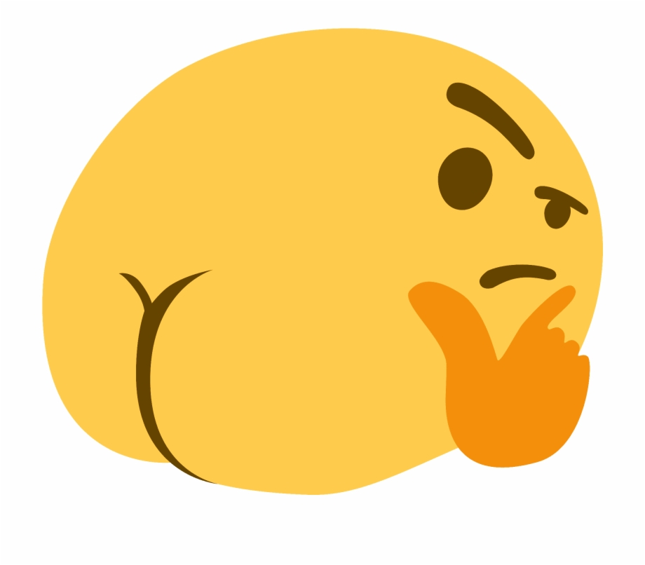 Thinking Emoji Meme , Png Download.
