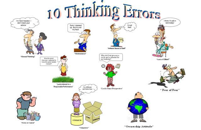 Thinking Errors Clipart Clipground