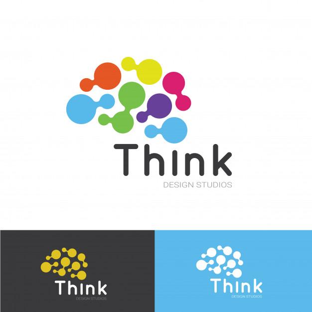 Thinking logo template Vector.