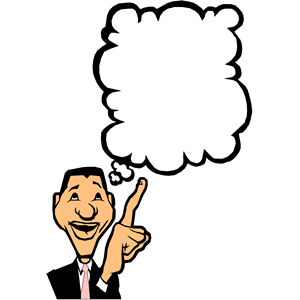 clipart of man thinking.
