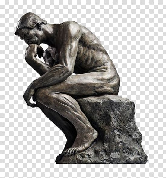 Man statue, The Thinker Statue Thought Sculpture, others.