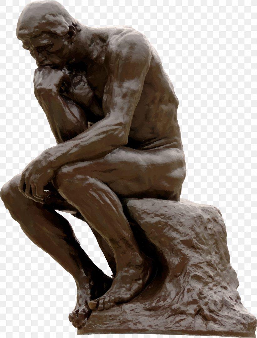 The Thinker Sculpture Art Clip Art, PNG, 1770x2328px.