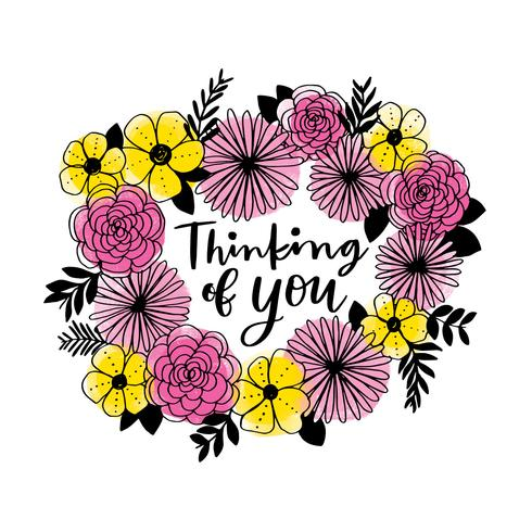 Thinking of You Floral Wreath.