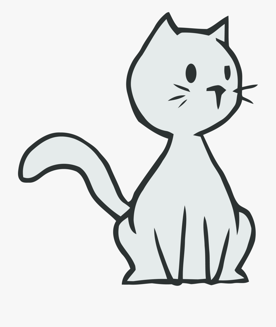 Thinking Cat Clipart Png.
