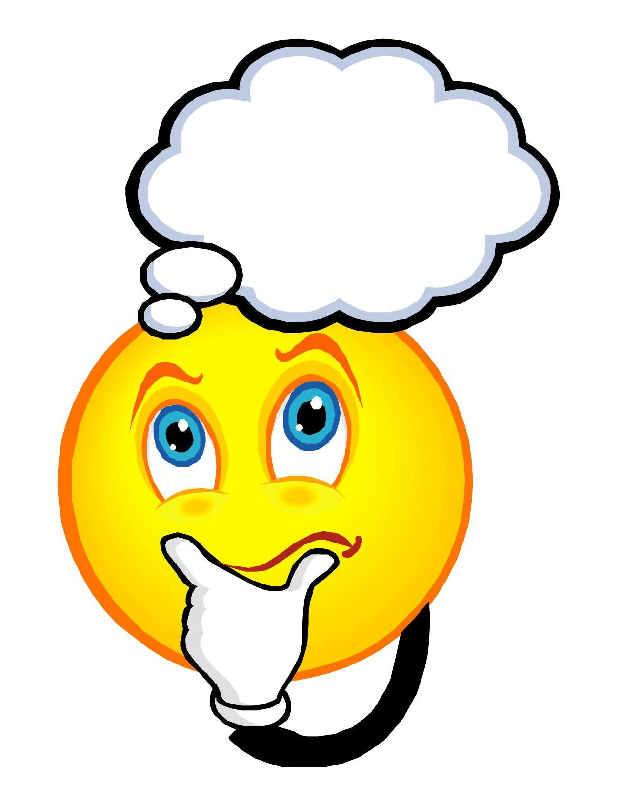 Thinking smiley clipart 6 » Clipart Station.