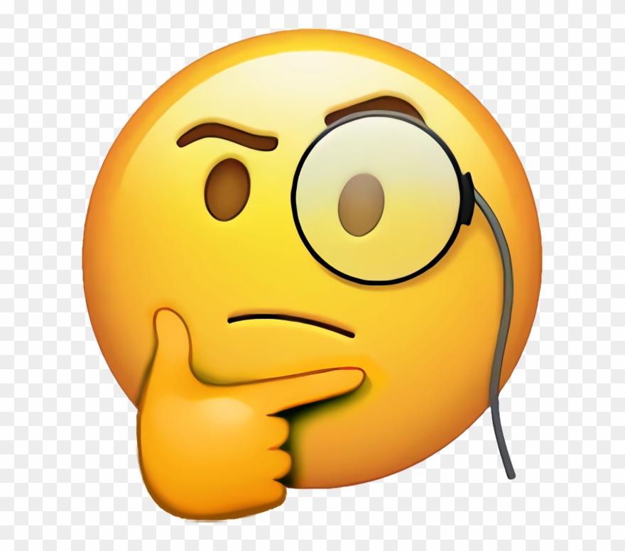 Rich Thinking Emoji.