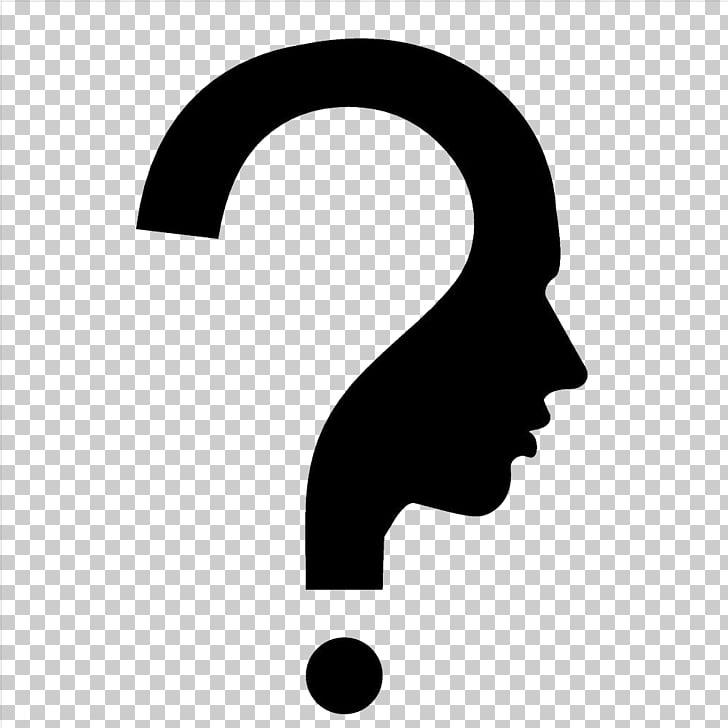 Question mark Human head Symbol, Thinking person, question.