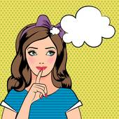 Woman Thinking Clipart.