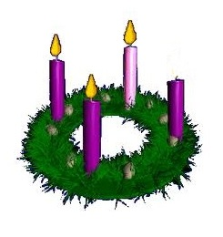 Clipart Advent Wreath Three Candles Lit Clipground