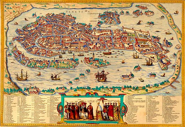 Here's a great map of the city of Venice, showing most of the.