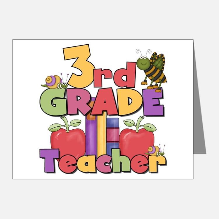 Third Grade Teacher Thank You Cards.