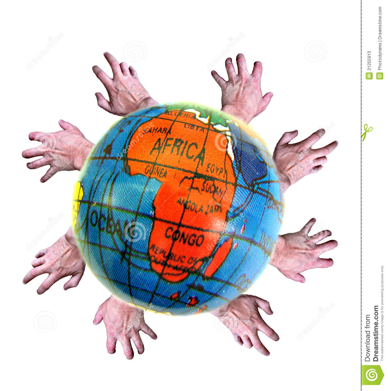 Third World Aidgive A Helping Hand! Stock Photos.