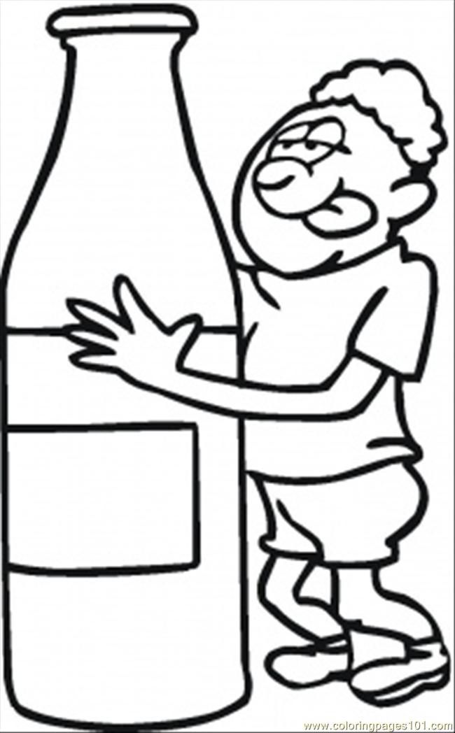 Coloring Pages Thirsty After Long Run (Peoples Emotions.