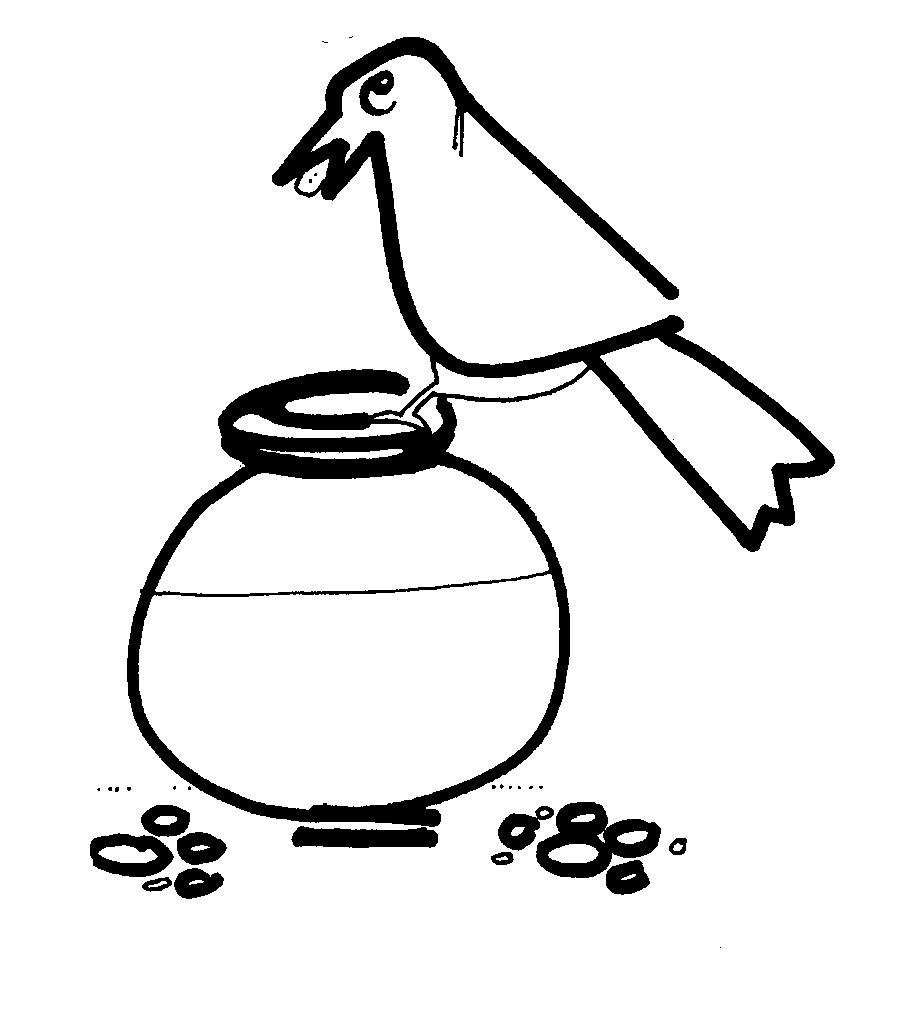 Thirsty Crow Clipart.