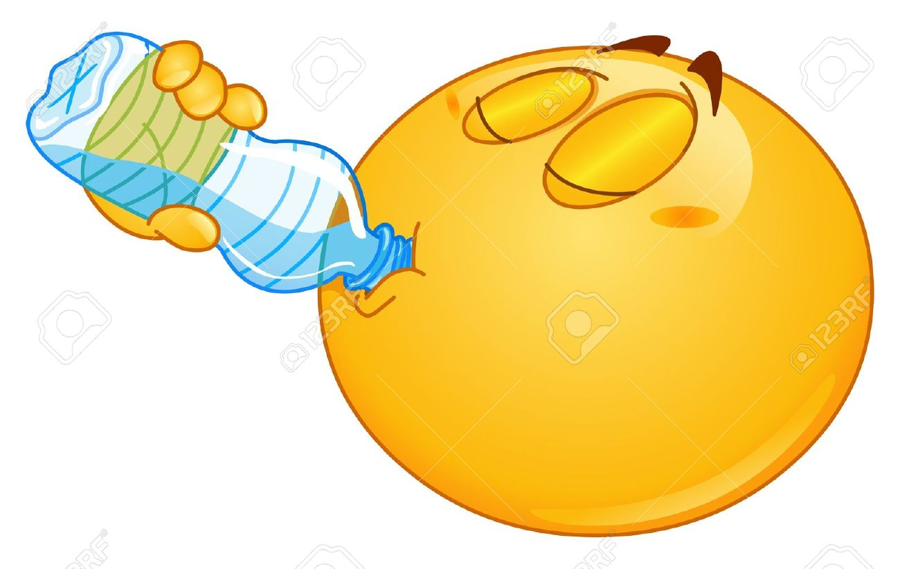 Thirsty Face Clipart.