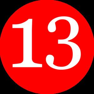 Number Thirteen Clipart.
