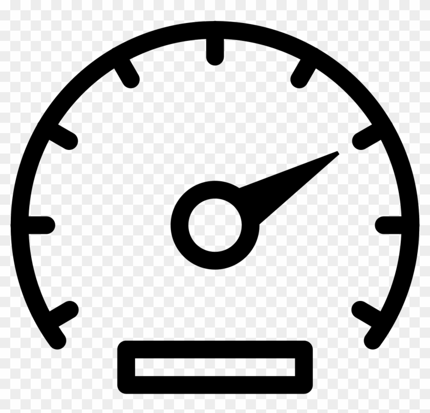 Graphic Black And White Library Speedometer Icon Free.