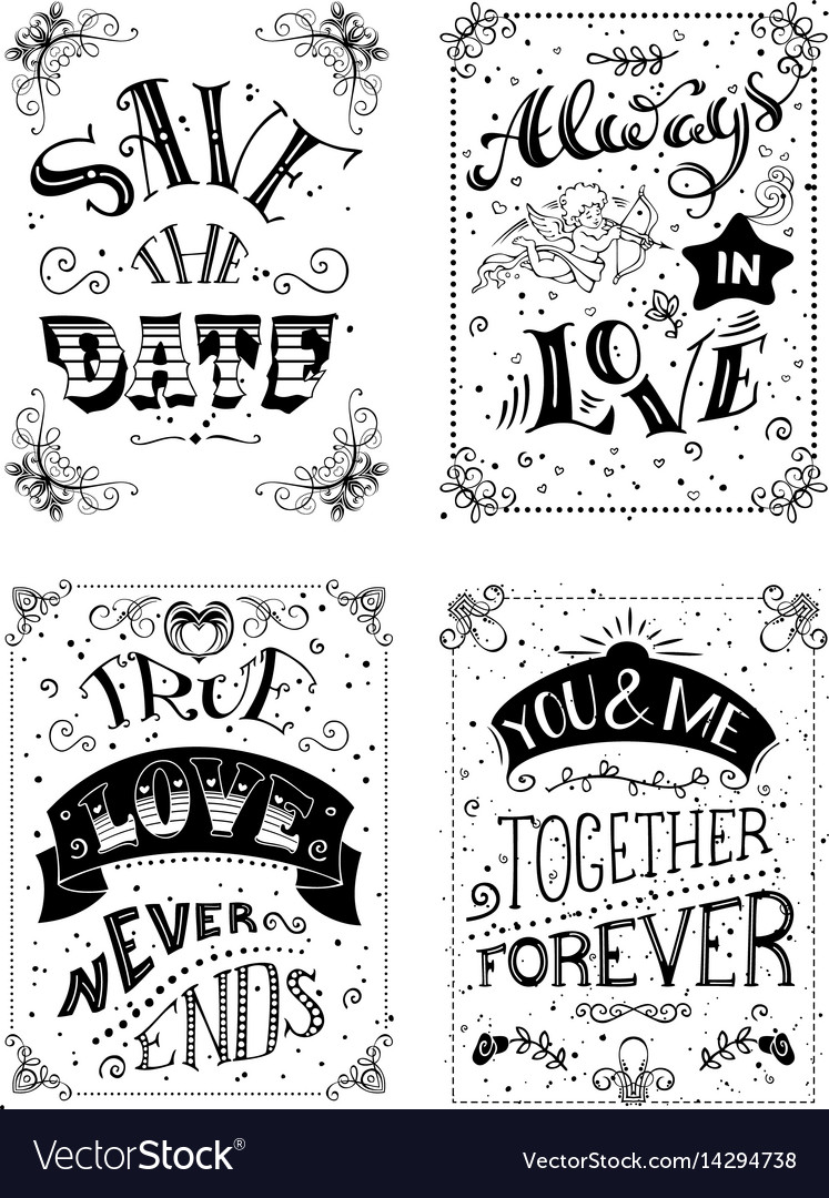 Save the date always in love true love never ends.