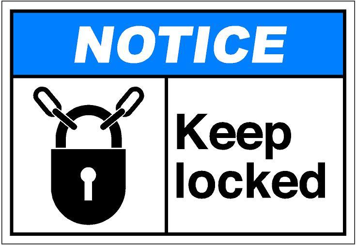 Keep door locked clipart 3 » Clipart Station.