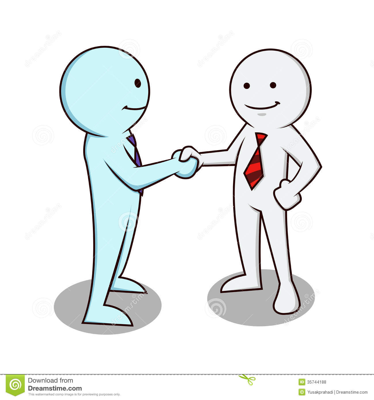 Two Business People Shaking Hands Clipart.