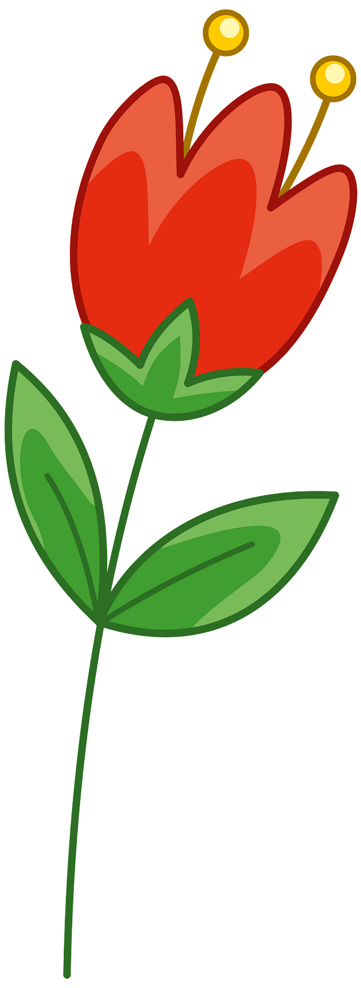 Red flower clipart. Free download..