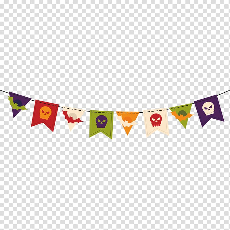 Halloween Flag Party, Halloween pull flag material.
