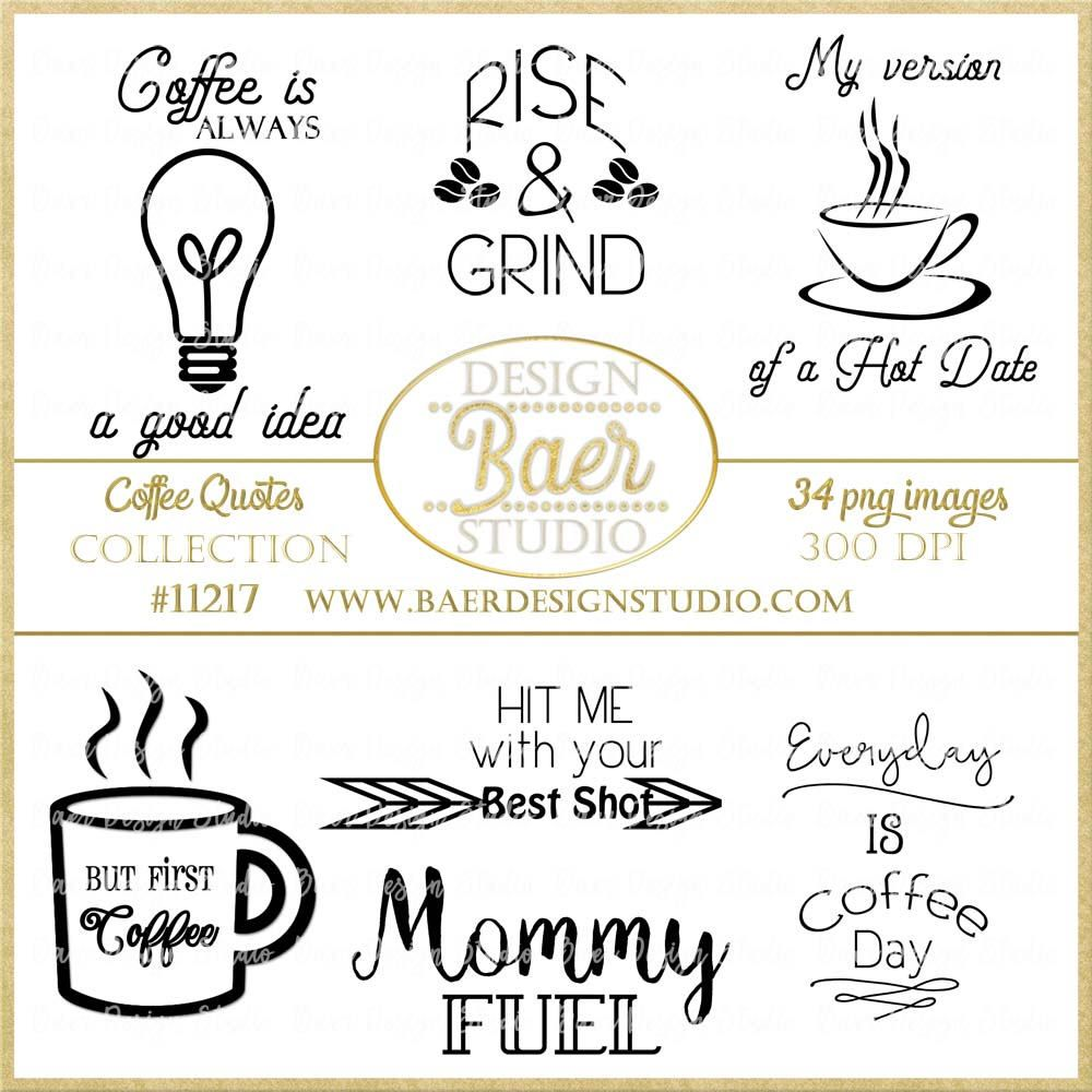 Coffee Quotes, Coffee Word Art, Photo Overlays, Digital Clip.