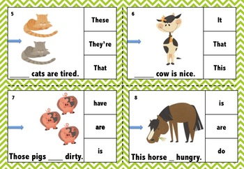 FREE ESL Demonstratives (This, That, These, Those) Clip Cards (A4 Size).