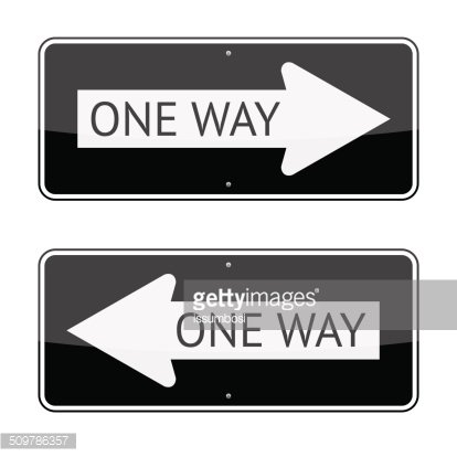 One Way Sign Clipart Image.