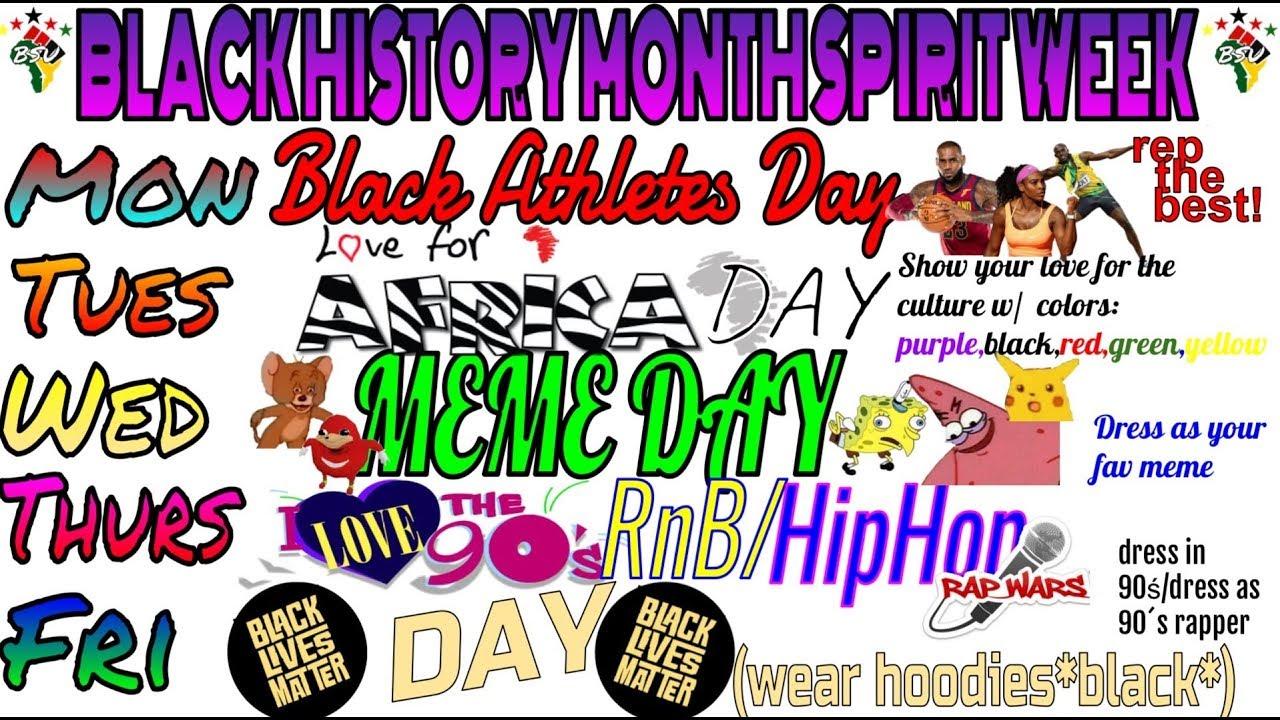 Black History Month Spirit Week.