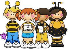 Thistlegirl Bee Clipart.