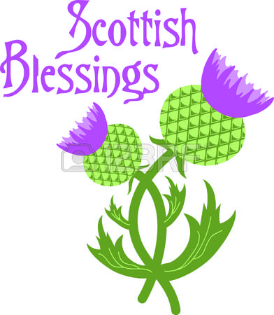 Thistle field clipart #3