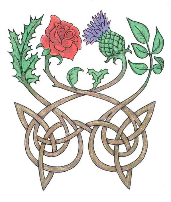 Rose and Thistle motif for our Scots/English marriage.