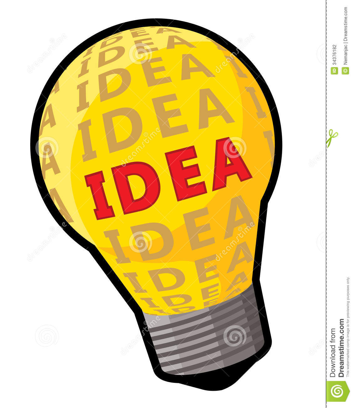 Clipart Light Bulb Thinking.