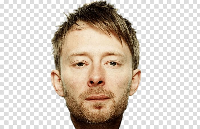 Man\'s face, Thom Yorke Face transparent background PNG.