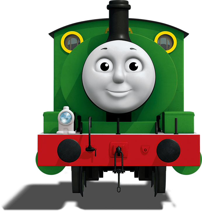 Percy Thomas & Friends James the Red Engine Train.
